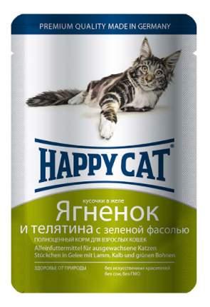 Влажный корм для кошек Happy Cat, ягненок, телятина, 22шт, 100г