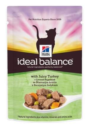 Влажный корм для кошек Hill's Ideal Balance, индейка, 12шт, 85г