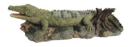 Грот для аквариума МЕЙДЖИНГ АКВАРИУМ Крокодил, полиэфирная смола, 25х11,5х6,5 см
