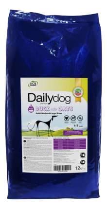 Сухой корм для собак Dailydog Adult Medium-Large Breed, утка и овес, 12кг