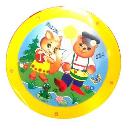 Бубен игрушечный Аэлита Бубен желтый