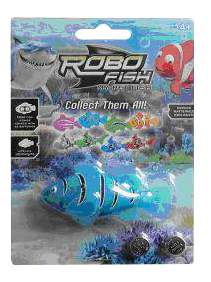 Заводная игрушка для купания Junfa Toys Рыбка синяя