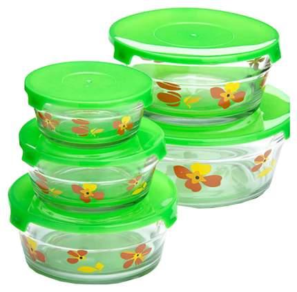 Набор салатниц Loraine 26866-1 Прозрачный, зеленый