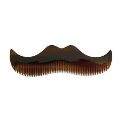 Расческа для усов Morgan's Pomade Moustache Comb Amber