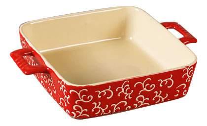 Форма для запекания квадратная, 32х23х7 см, красная