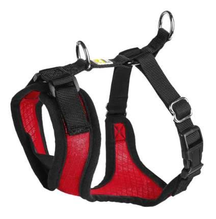 Шлейка для собак Hunter Manoa S (38-47 см) нейлон/сетчатый текстиль красный