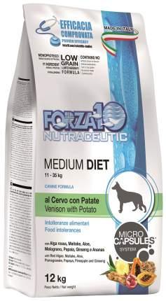 Сухой корм для собак Forza10 Diet Medium, оленина, картофель, 12кг