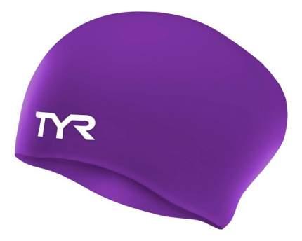 Шапочка для плавания TYR Long Hair Wrinkle-Free Silicone Cap 510 purple