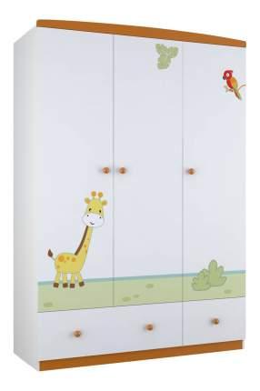 Шкаф детский Polini Basic Джунгли белый-оранжевый