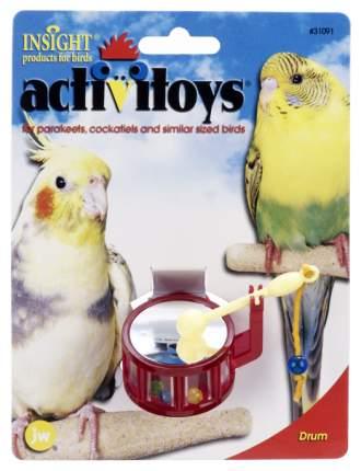 Погремушка для птиц JW Барабан, Пластик, 4,4x7см
