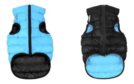 Куртка для собак AiryVest размер L унисекс, черный, голубой, длина спины 65 см