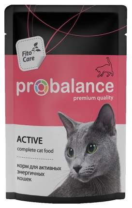 Влажный корм для кошек ProBalance Active, мясо, 85г