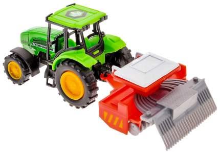 Строительная техника ТехноПарк Трактор с прицепом 14,5 см 10219-R_сеялка