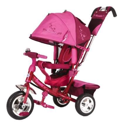 Велосипед трехколесный Beauty красно-розовый с пластиковыми колесами
