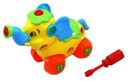 Конструктор пластиковый Play Smart Собери сам Слоник 4 детали Г54525
