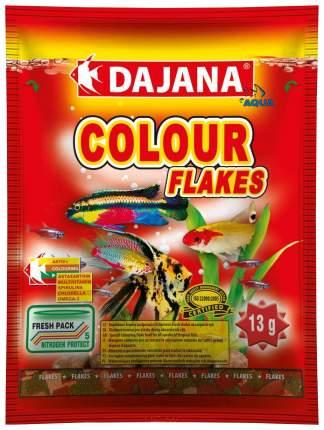 Корм для рыб Dajana COLOUR FLAKES, хлопья, 80 мл