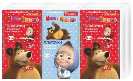 Бумажные платки Premial Маша и Медведь