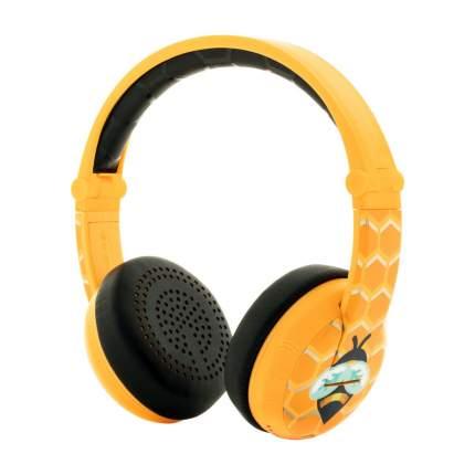 Беспроводные наушники BuddyPhones Wave Bee Yellow
