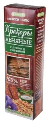 Крекеры льняные Витапром флекси чипс лук сметана и томат 100 г