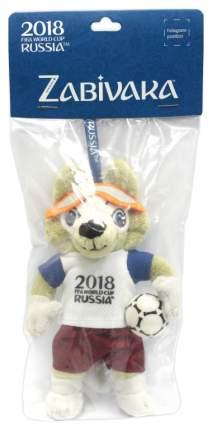 Мягкая игрушка FIFA-2018 Волк Забивака на ленточке, 16 см (Т11773)