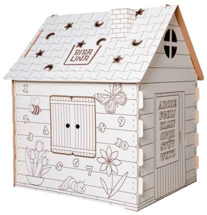 Картонный домик раскраска BibaLina Colouring play-house