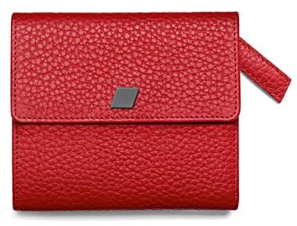Женский кожаный мини кошелек Audi 3141401200 red