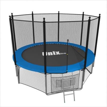 Батут Unix Line Outside с сеткой и лестницей 244 см, blue