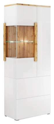 Платяной шкаф МФ Мелания MEL_1904 199,5х76,6х39,5, белый/дуб вотан
