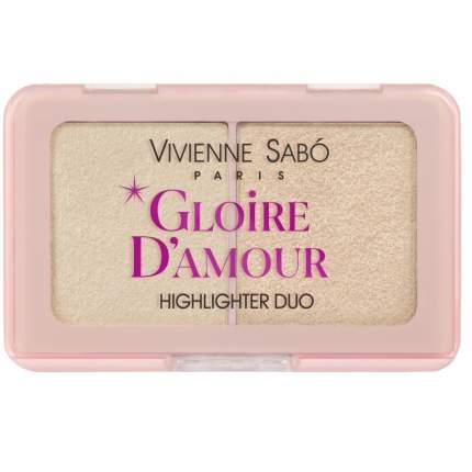 Палетка хайлайтеров Vivienne Sabo Gloire d'amour мини тон 01 светло-розовый