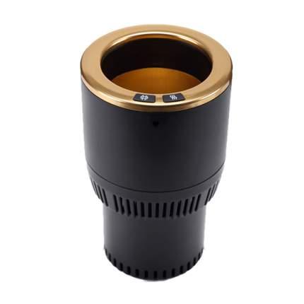Подстаканник автомобильный Paltier для поддержания температуры напитков, черно-золотой