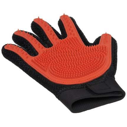 Перчатка силиконовая на руку ZooOne, с шипами, малая, цвет: красный