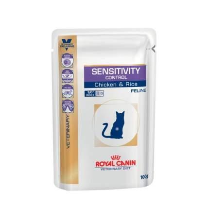 Влажный корм для кошек ROYAL CANIN Vet Diet Sensitivity Control, курица, рис, 85г