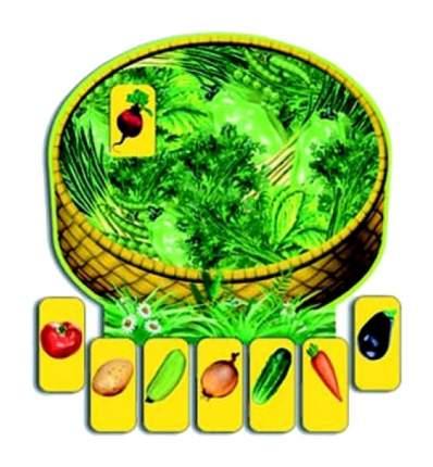 Игра настольная. Овощи в корзинке С-578-no Радуга