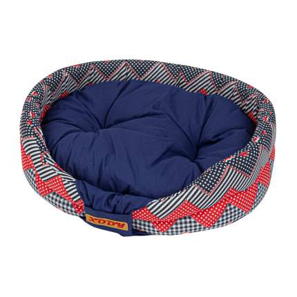 Лежак для собак и кошек Xody Бабочка, хлопок, морячок, 52х46х13 см