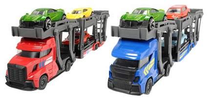 Игрушечный автовоз с прицепом и 3 машинками Dickie Toys