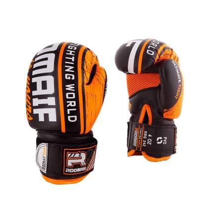 Боксерские перчатки детские Roomaif RBG-242 оранжевые 2 унции