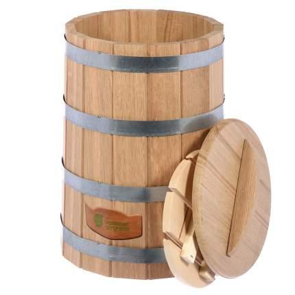 Кадка для воды и заготовки солений Банные штучки с крышкой и гнётом 30 л