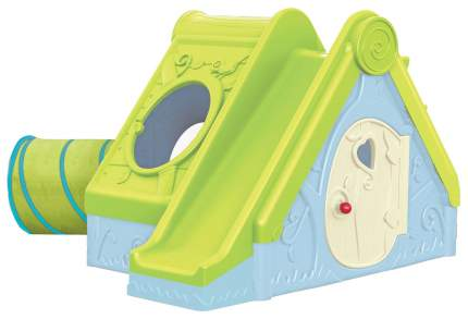 Игровой дом Keter Фунтик с горкой голубой/зеленый