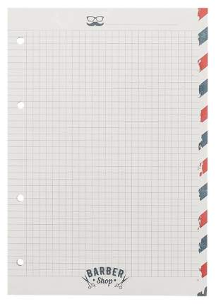 """Сменный блок """"Barbershop"""", 120 листов, в клетку, 14 х 20 см"""