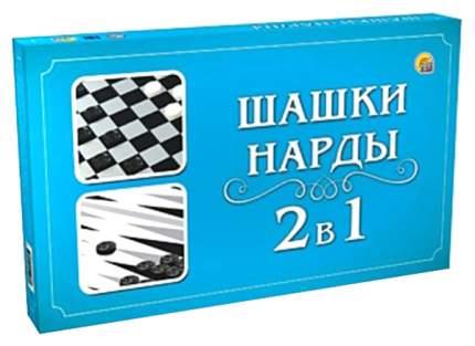 """Настольная игра 2 в 1 """"Шашки и нарды"""" Рыжий кот"""