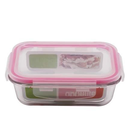 Контейнер стеклянный прямоугольный 1040мл роз ТМ Appetite