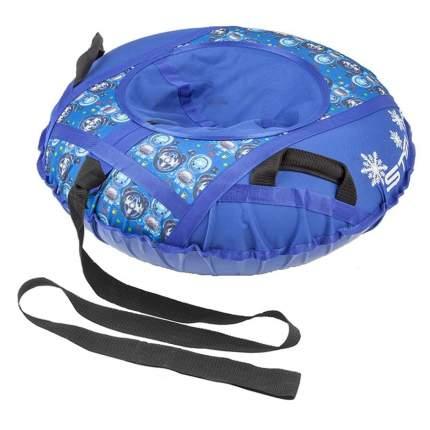 Санки надувные 110 см STELS без камеры СН030 синий/руль и панель приборов