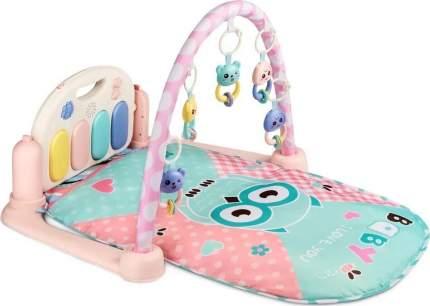 Развивающий коврик для детей AMAROBABY NIGHT OWL, 80x65x45 (СОВА) розовый