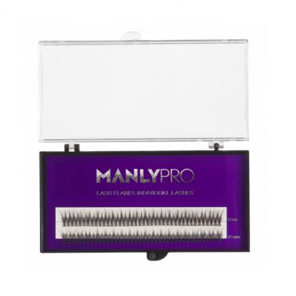 Набор ресниц в пучках Manly PRO шелк 10, 12 мм