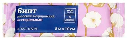Бинт марлевый PL медицинский стерильный 5 м х 10 см ТУ 1 шт.