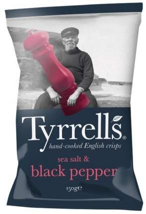 Чипсы Tyrrells натуральные картофельные с морской солью и черным перцем 150 г