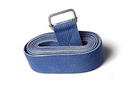 Ремень для йоги RamaYoga Де Люкс цветной, синий