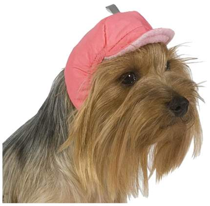 Шапка для собак ТУЗИК размер унисекс, розовый, длина спины см