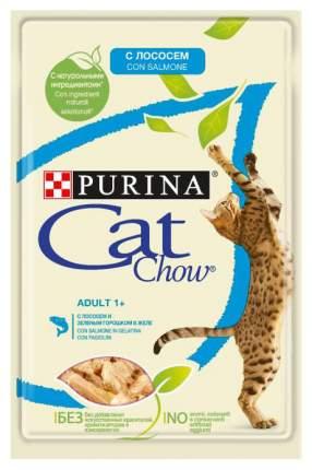 Влажный корм для кошек Cat Chow Adult, лосось, кусочки, 85г