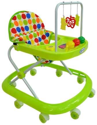 Ходунки детские Farfello 348-1 зеленый, принт круги